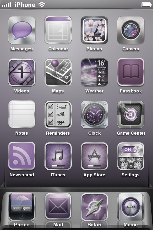 Purple Metallic Theme