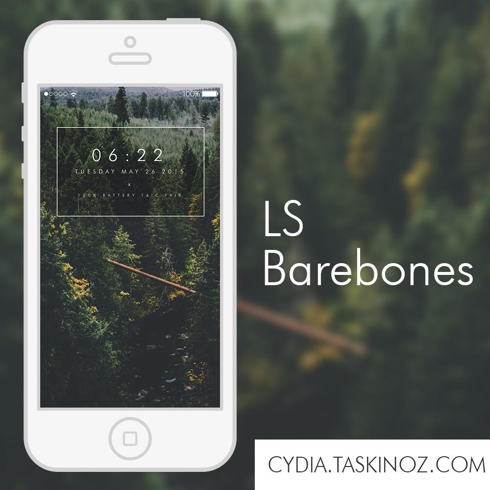 LS Barebones - A LockScreen widget for iOS