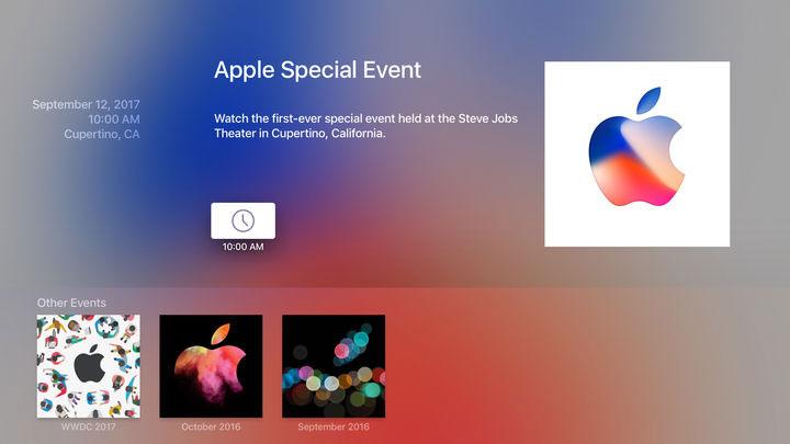 Apple TVでAppleイベントを視聴