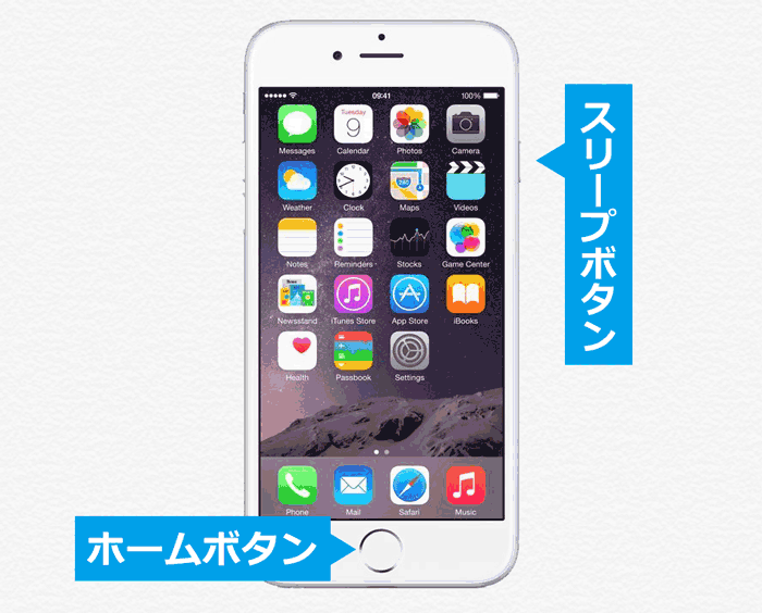 iPhone6/6Plusで強制再起動